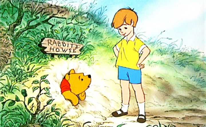 C'mon Christopher! Leave a little bit for Winnie the Pooh's imagination.