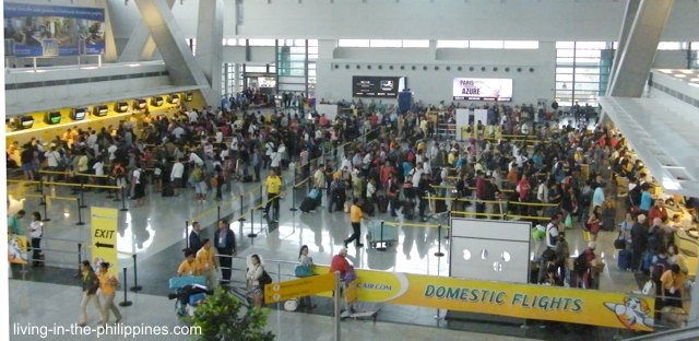 An empty airport by Filipino standards.