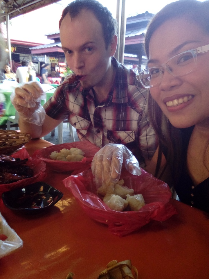 Only moments after our food came I couldn't wait to eat the pig rectum.