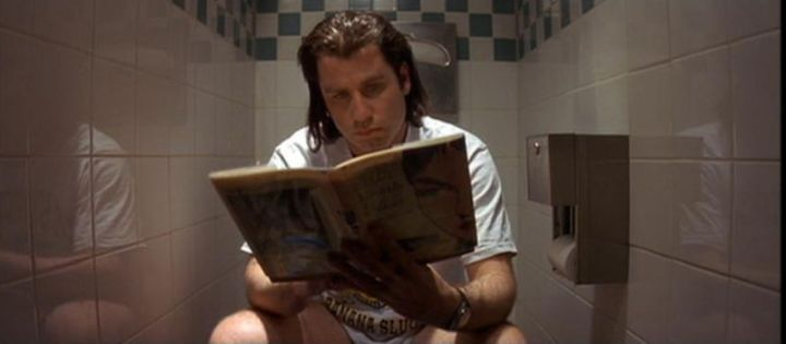John Travolta's decision to do a real poop in Pulp Fiction rather than use a stunt double was both career defining and unnecessary.