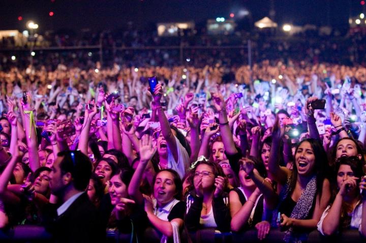 Justin Bieber concert fans
