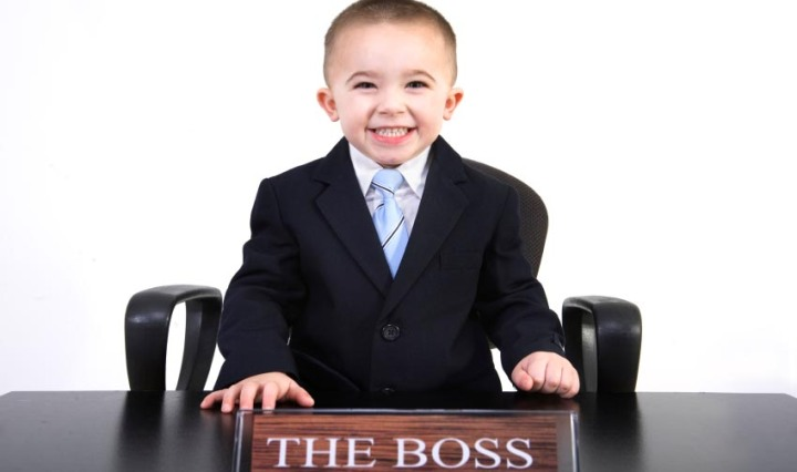kid wearing a suit