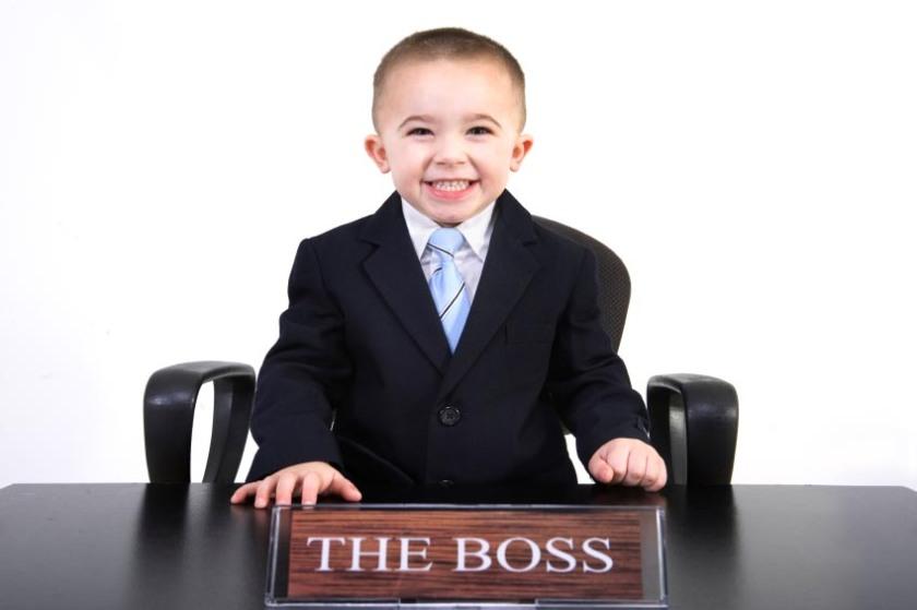 kid wearing a suit