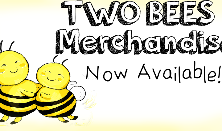 two bees merchandise art funny drawing