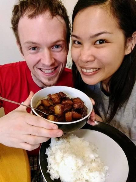 filipino humba cooking american marriage interracial food