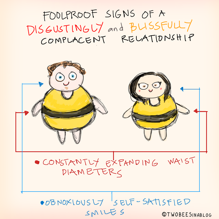 complacent relationship drawing two bees in a blog art funny comic comics design love relationships