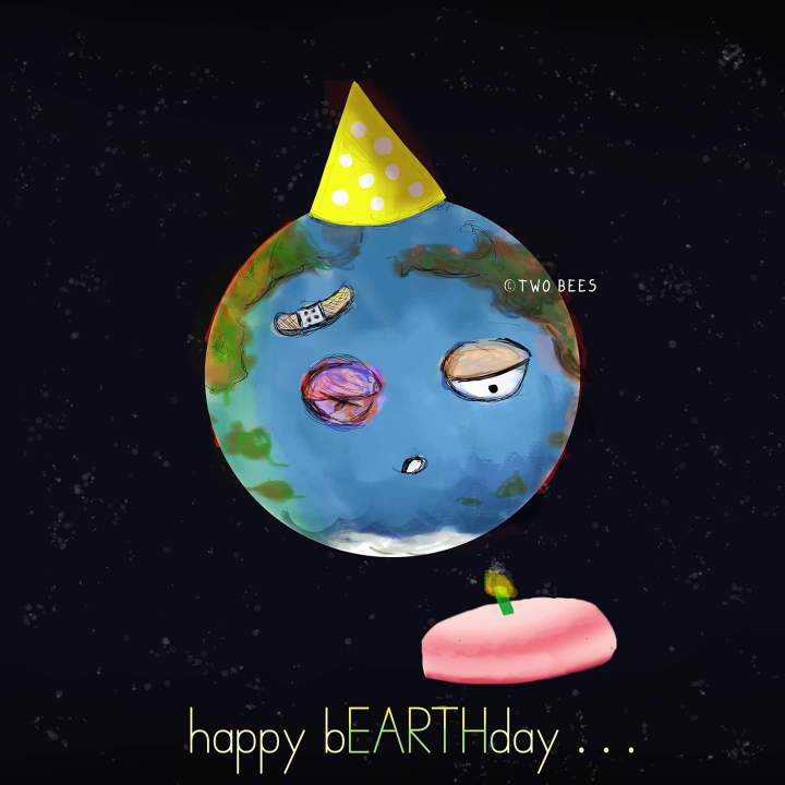 art earth day drawing satire funny humor envitonment causes issue