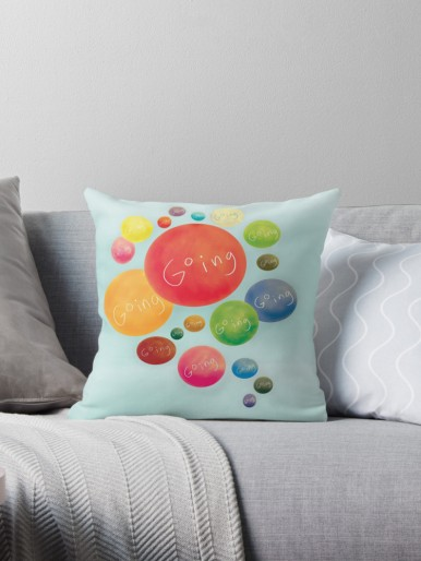gift print art framed cute design drawing funny throw pillow