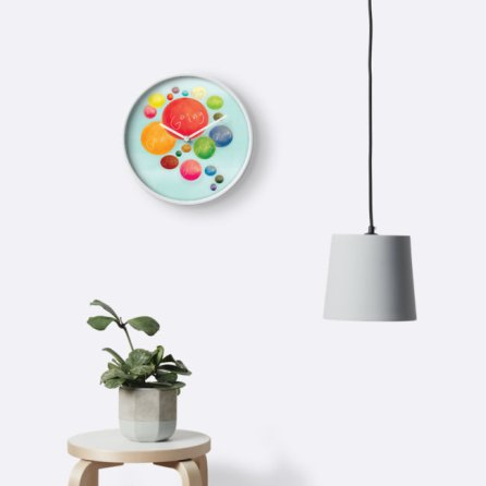 wall clock art cute design gift minimalist drawing funny graphic