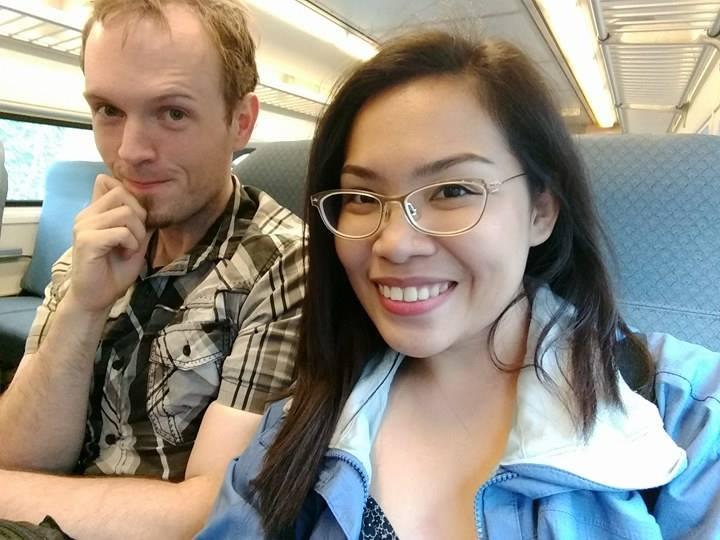cute people on a train
