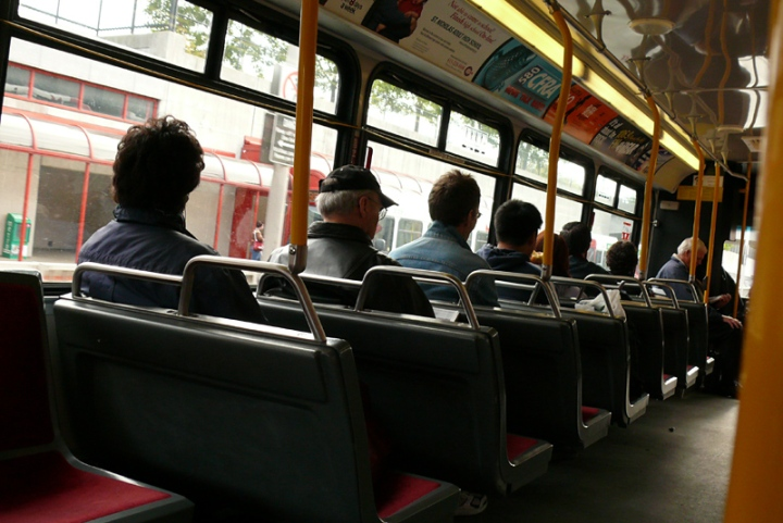 empty seats on a bus