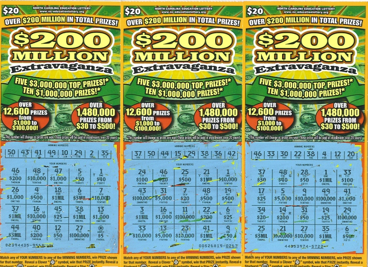 scratch off lottery tickets