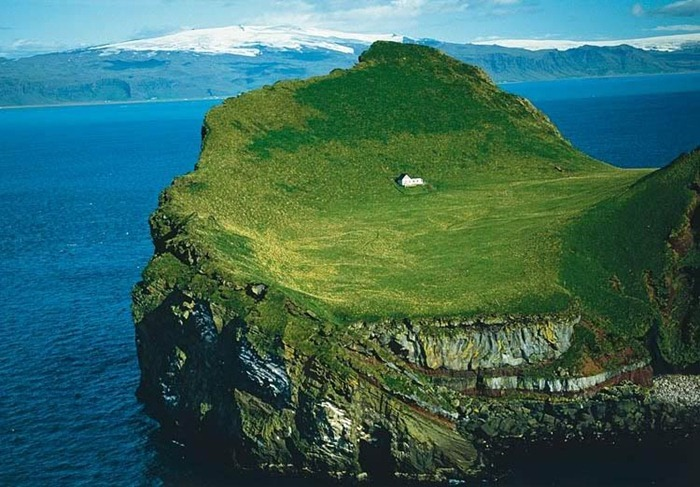 house on island alone