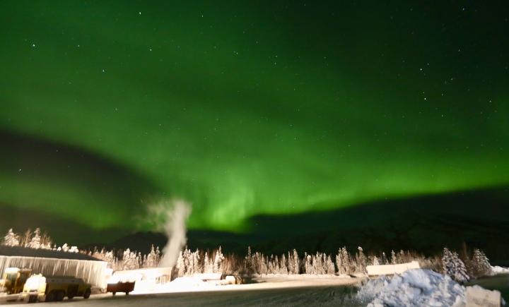 Alaska Aurora Borealis Northern Lights Coldfoot Camp Wiseman Village
