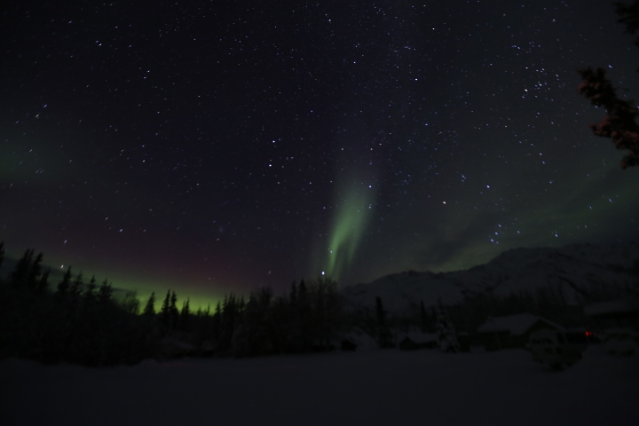 Alaska Aurora Borealis Northern Lights Coldfoot Camp Wiseman Village